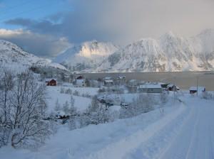 Sør-Tverrfjord i vinterprakt